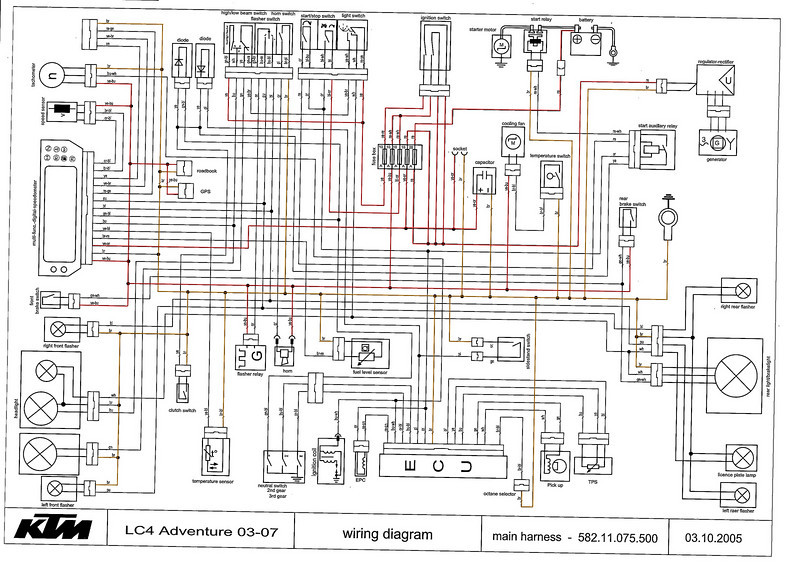 wiring diagram for ktm 300 wiring diagrams rh boltsoft net Motorcycle Headlight Wiring KTM 500 EXC